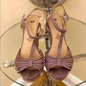 H&M Purple Wedges Size 9.5